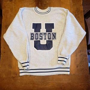 Vintage Boston University college sweatshirt
